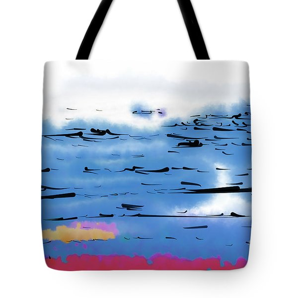 Tote Bag featuring the digital art Abstract Ocean by Kirt Tisdale