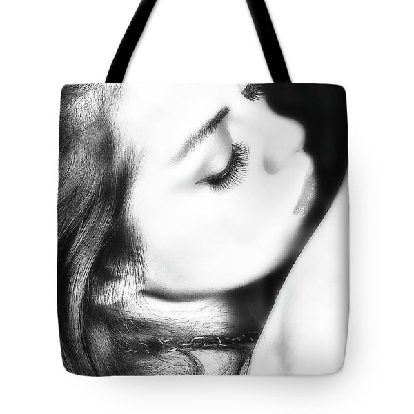 Abstract Of Model  ... Tote Bag by Chuck Caramella