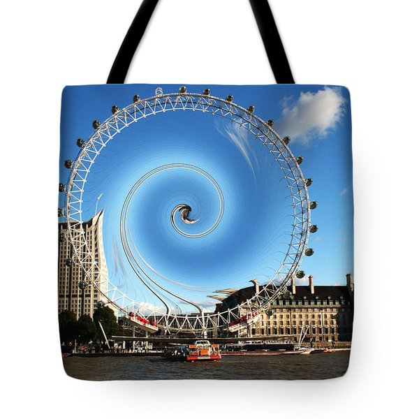 Abstract Of The Millennium Wheel Tote Bag