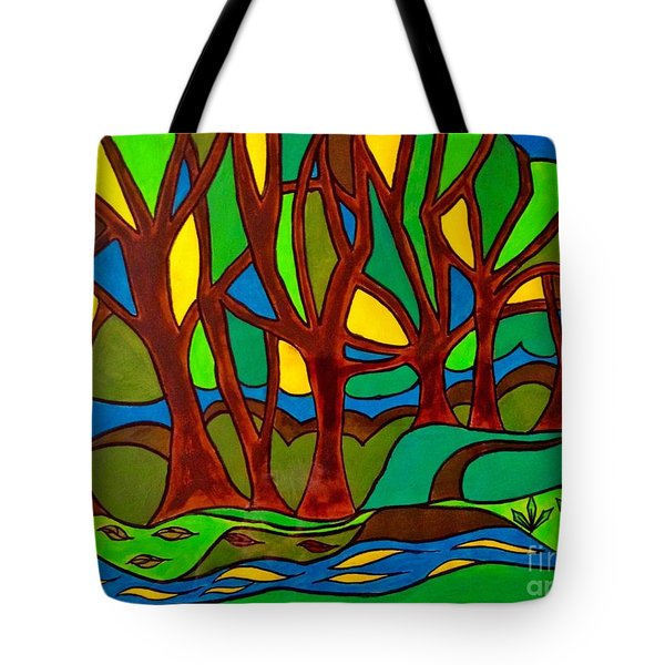 Abstract Of The Otter Pool Tote Bag