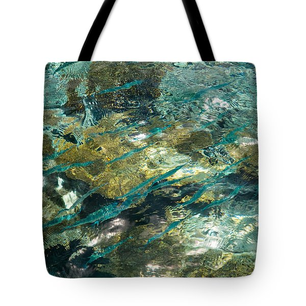 Abstract Of The Underwater World. Production By Nature Tote Bag by Jenny Rainbow