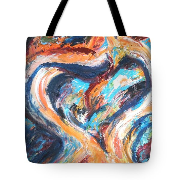 Abstract Of Womb Tote Bag by Esther Newman-Cohen