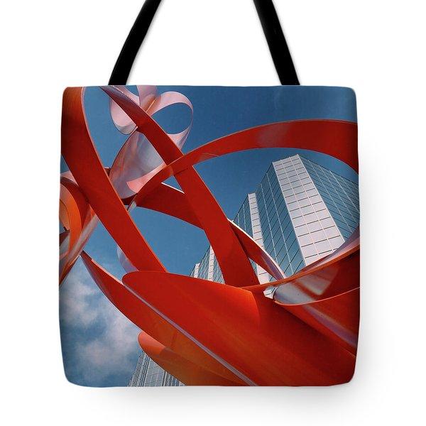 Abstract - Oklahoma City Tote Bag