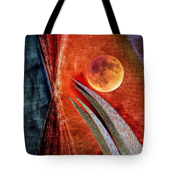 Abstract On Moon Tote Bag