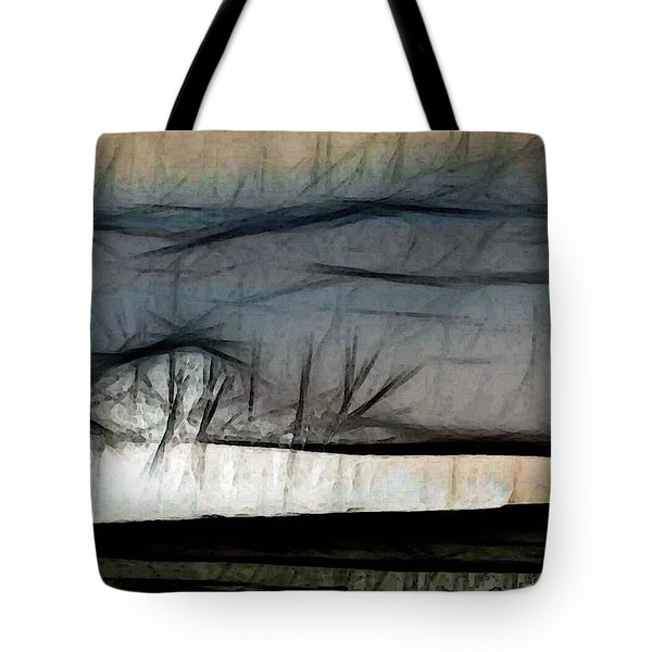 Abstract On River Tote Bag