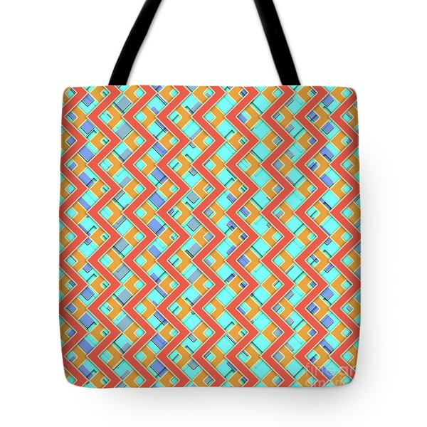 Abstract Orange, Cyan And Red Pattern For Home Decoration Tote Bag