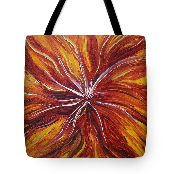 Abstract Orange Flower Tote Bag