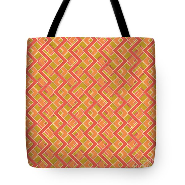 Abstract Orange, Red And Brown Pattern For Home Decoration Tote Bag