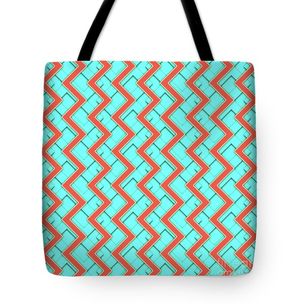 Abstract Orange, Yellow And Cyan Pattern For Home Decoration Tote Bag