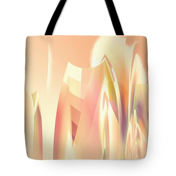 Tote Bag featuring the digital art Abstract Orange Yellow by Robert G Kernodle