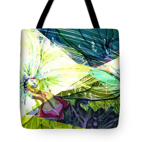 Abstract Orchid Tote Bag by Mindy Newman