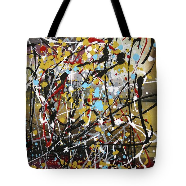 Abstract Original Art Contemporary Painting Energized I By Megan Duncanson Tote Bag