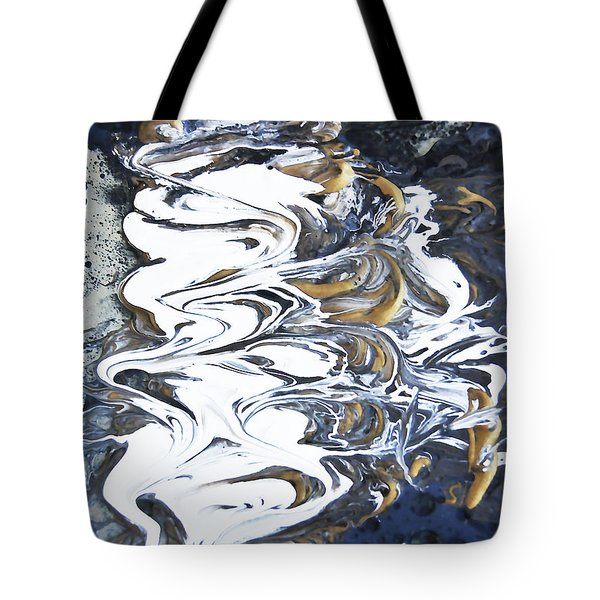 Tidal Wave Abstract Painting 1 - Mixed Media Tote Bag by Renee Anderson