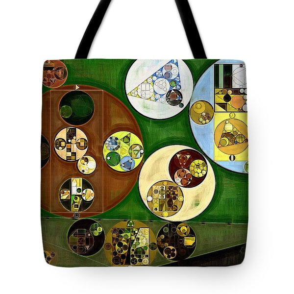 Tote Bag featuring the digital art Abstract Painting - Black Forest by Vitaliy Gladkiy