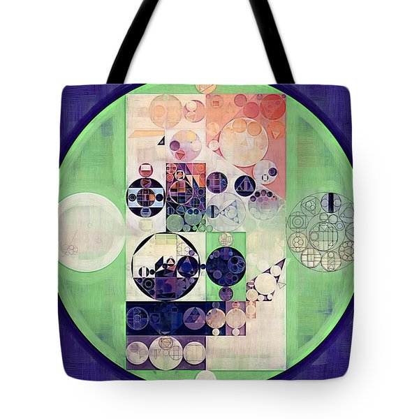 Tote Bag featuring the digital art Abstract Painting - Blanc by Vitaliy Gladkiy