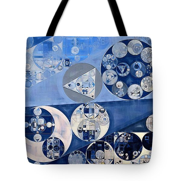 Abstract Painting - Blue Whale Tote Bag