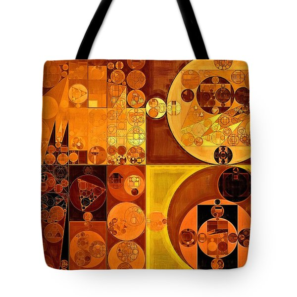 Abstract Painting - Carrot Orange Tote Bag