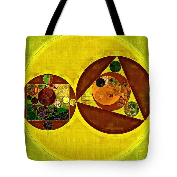 Abstract Painting - Citrine Tote Bag by Vitaliy Gladkiy