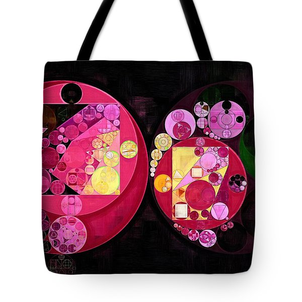 Abstract Painting - Deep Carmine Tote Bag by Vitaliy Gladkiy