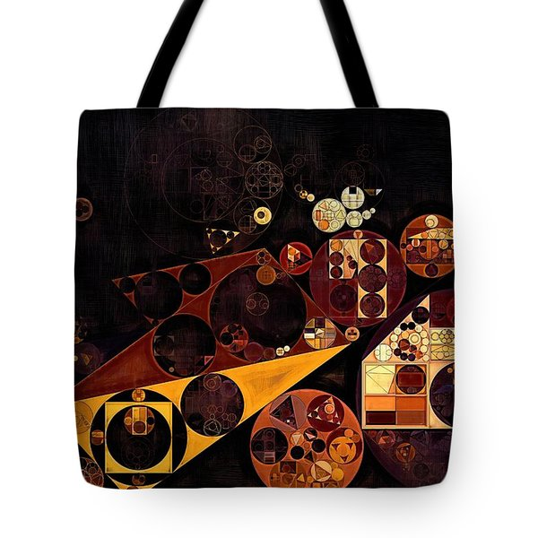 Tote Bag featuring the digital art Abstract Painting - Fire Bush by Vitaliy Gladkiy