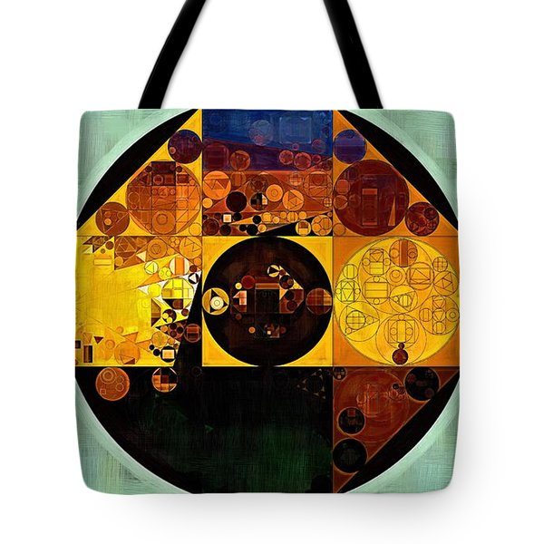 Abstract Painting - Gamboge Tote Bag by Vitaliy Gladkiy