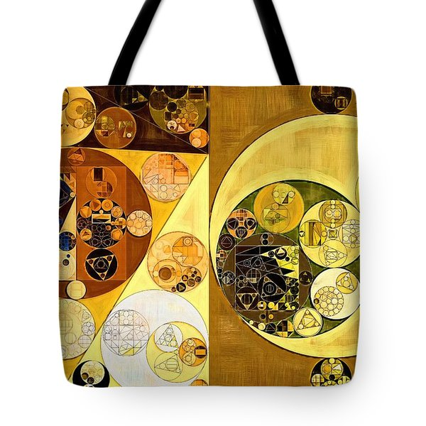Tote Bag featuring the digital art Abstract Painting - Golden Brown by Vitaliy Gladkiy