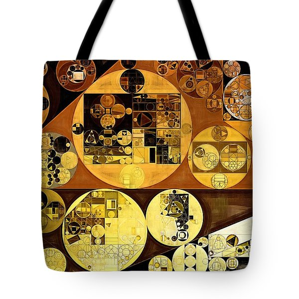 Tote Bag featuring the digital art Abstract Painting - Mai Tai by Vitaliy Gladkiy