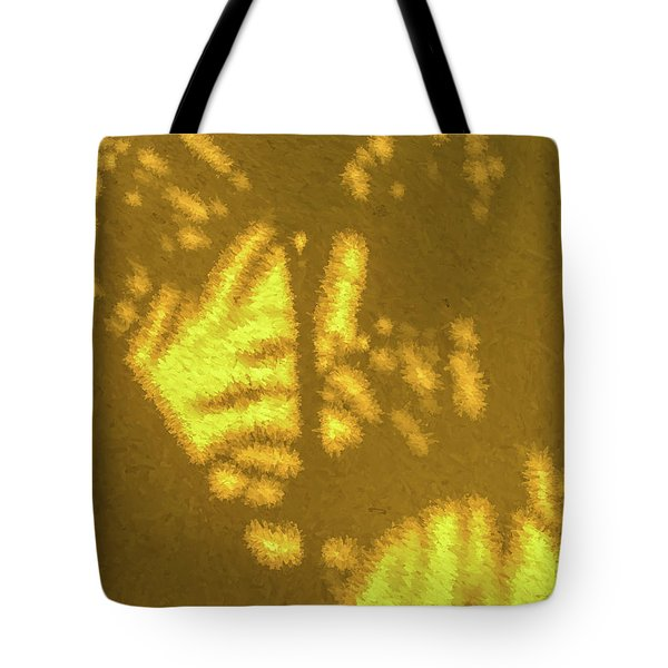 Tote Bag featuring the photograph Abstract Palm by David Letts