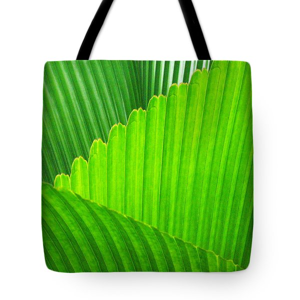 Abstract Palm Leaves Tote Bag