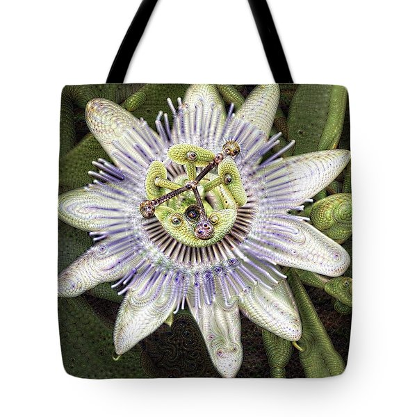 Tote Bag featuring the photograph Abstract Passion by Cathy Donohoue