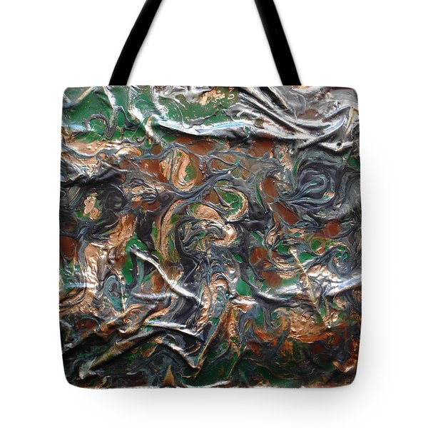 Tote Bag featuring the mixed media Abstract Peacock by Angela Stout