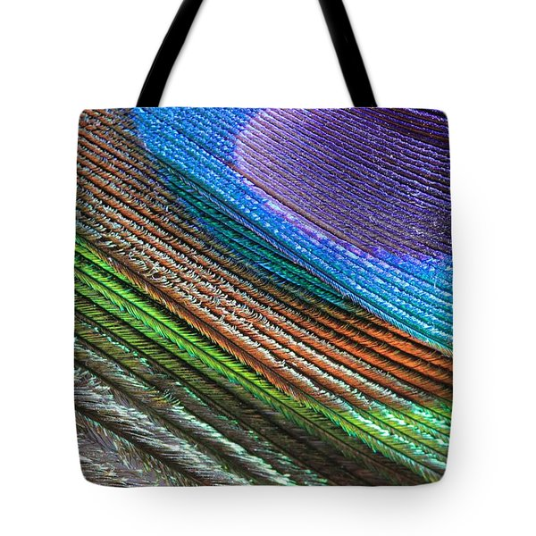 Abstract Peacock Feather Tote Bag