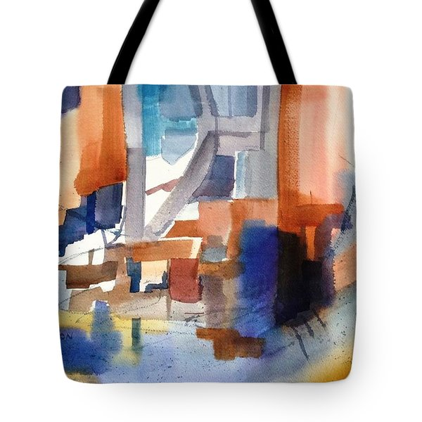 Abstract- Peggy's Cove Tote Bag
