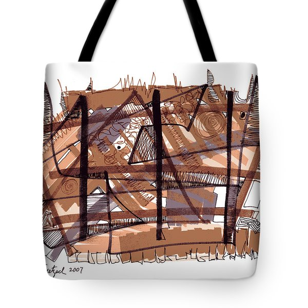 Abstract Pen Drawing Twelve Tote Bag