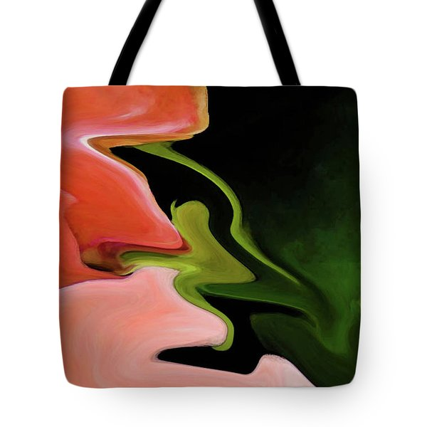Abstract Pink Flowers Tote Bag