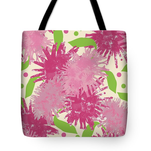 Abstract Pink Puffs Tote Bag