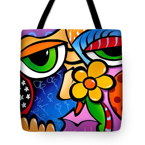 Abstract Pop Art Original Painting Scratch N Sniff By Fidostudio Tote Bag
