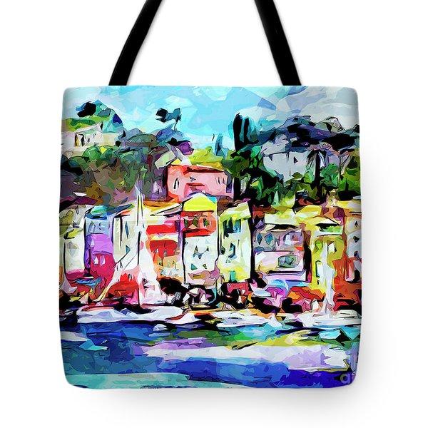 Abstract Portofino Italy Art  Tote Bag