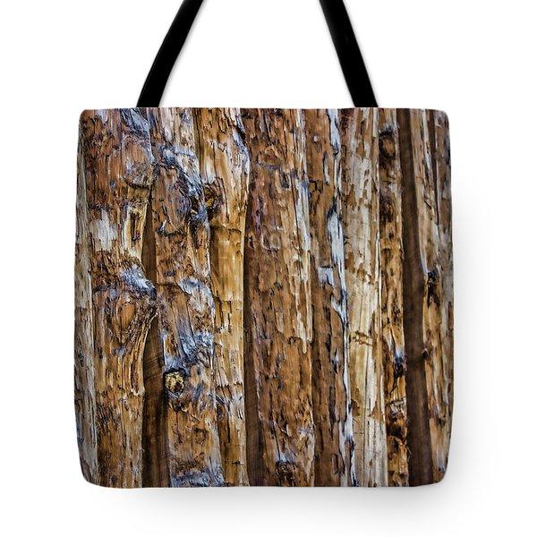 Abstract Posts Tote Bag