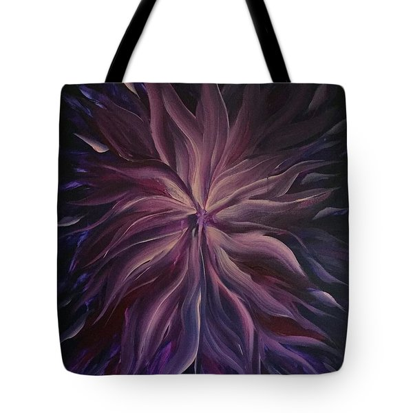 Abstract Purple Flower Tote Bag