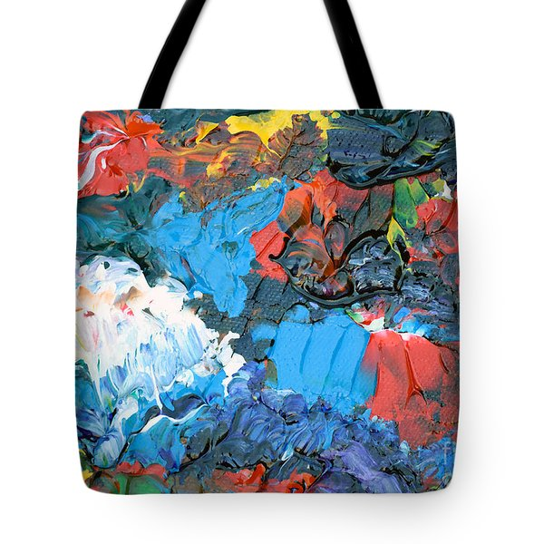 Tote Bag featuring the painting Abstract Q1112a  by Mas Art Studio