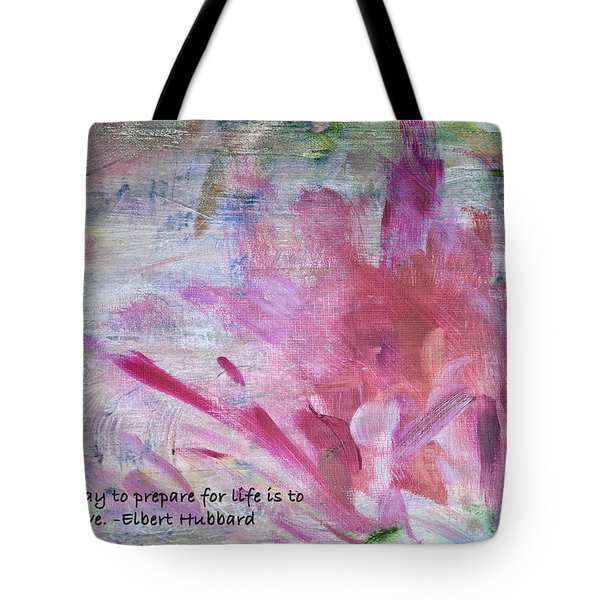 Famous Quotes Hubbard Tote Bag