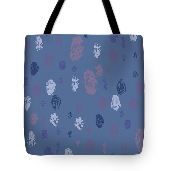 Abstract Rain On Blue Tote Bag