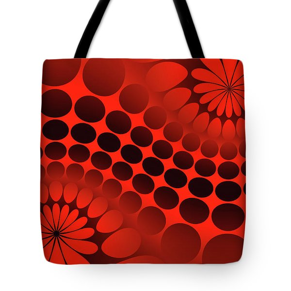 Abstract Red And Black Ornament Tote Bag