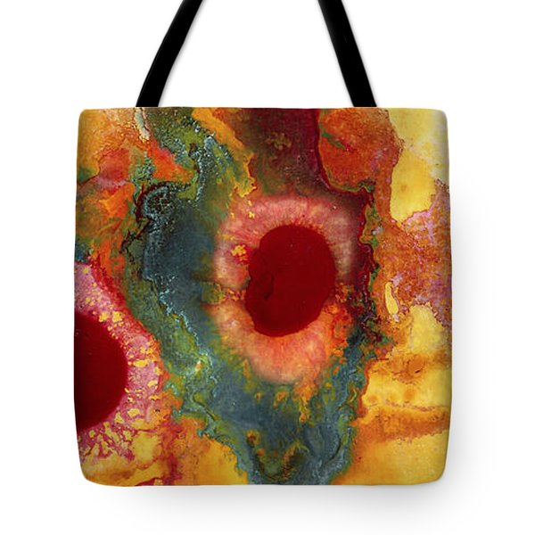 Abstract Red Flower Garden Panoramic Tote Bag
