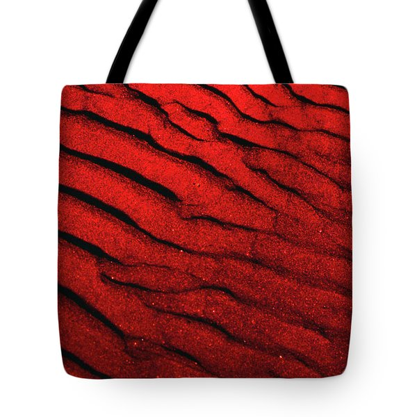 Abstract Red Sand- 2 Tote Bag