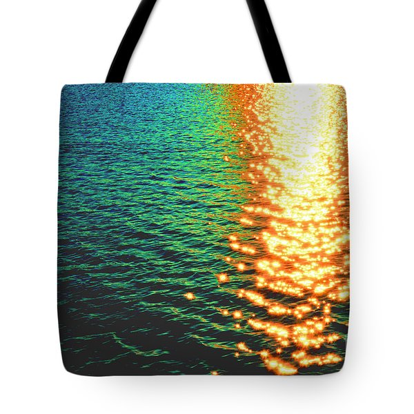 Abstract Reflections Digital Painting #5 - Delaware River Series Tote Bag