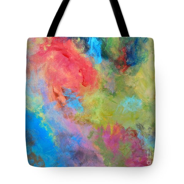Tote Bag featuring the painting Abstract by Reina Resto
