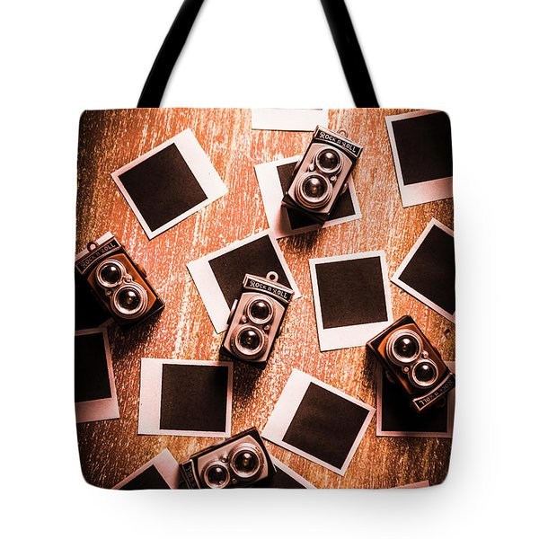 Abstract Retro Camera Background Tote Bag