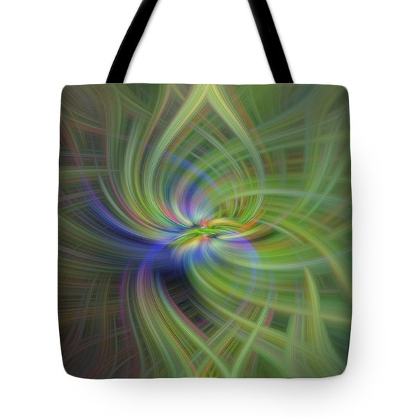Abstract Robin Eating Crabapples Tote Bag by Skip Tribby